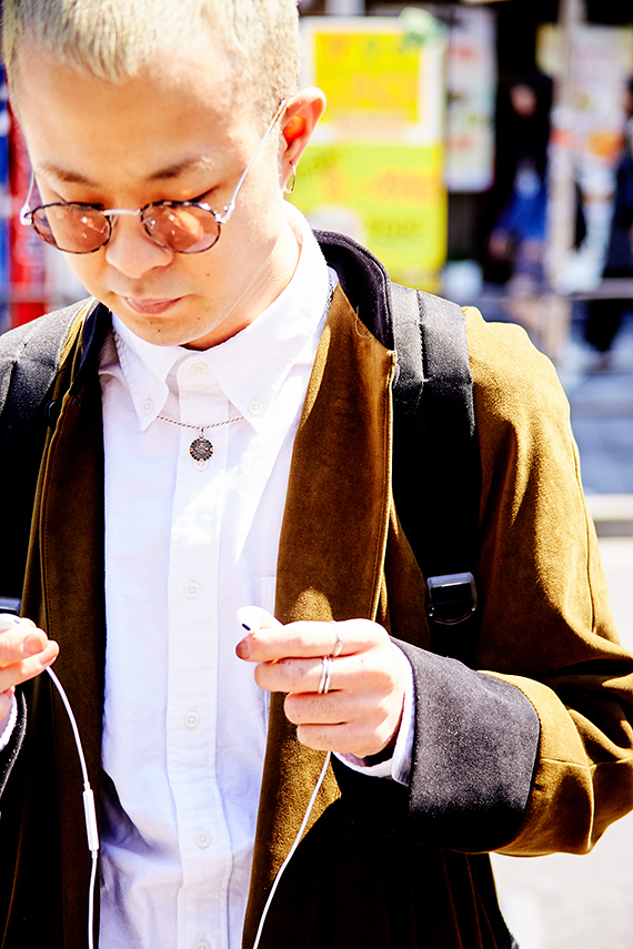 原宿駅の竹下口で<br /> 金髪ボウズが目を引いた彼